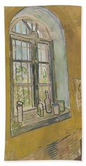 Beach Towel featuring the painting Window In The Studio Saint-remy-de-provence, September - October 1889 Vincent Van Gogh 1853 - 1890 by Artistic Panda