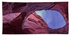 Beach Towel featuring the photograph Window In To The Sky by Edgars Erglis