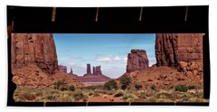 Window Into Monument Valley Beach Sheet by Eduard Moldoveanu