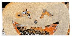 Window Pumpkin #3 Beach Sheet