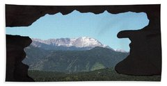 Window To Pikes Peak Beach Towel