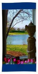 Window View Pond Beach Sheet