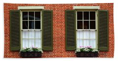 Windows And Shutters In Frederick Maryland Beach Towel