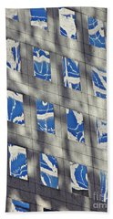 Beach Towel featuring the photograph Windows Of 2 World Financial Center 3 by Sarah Loft
