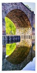 Windsor Rail Bridge Beach Towel by Tom Cameron
