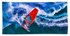 Windsurfer Joy Beach Towel