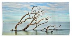 Windswept Branches On Sandy Hook Bay Beach Sheet