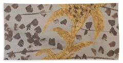 Windswept Golden Plantae #4 Beach Sheet by Rachel Hannah
