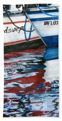 Beach Towel featuring the painting Windswept Reflections Sold by Lil Taylor