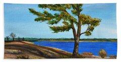 Windswept Tree Beach Towel