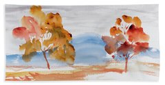 Windy Autumn Colours  Beach Towel
