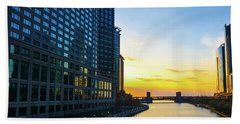 Windy City Sunrise Beach Towel