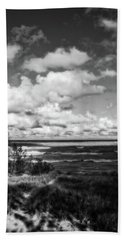 Beach Towel featuring the photograph Windy Morning On Lake Michigan by Michelle Calkins