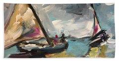 Windy Sails Beach Towel