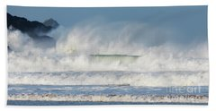 Windy Seas In Cornwall Beach Towel