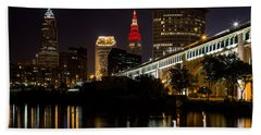 Wine And Gold In Cleveland Beach Towel by Dale Kincaid