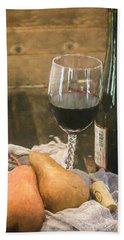 Wine And Pears Beach Sheet