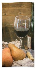 Wine And Pears Beach Towel