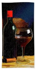 Wine Cellar 01 Beach Towel by Wally Hampton