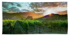 Wine Country Beach Towel