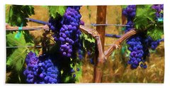 Beach Towel featuring the painting Wine Country  by Kandy Hurley