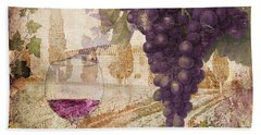 Wine Country Loire Beach Towel
