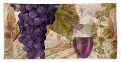 Wine Country Provence Beach Towel
