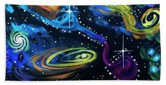 Wine Galaxy Beach Towel