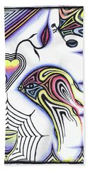 Wine Glass Fish Beach Towel