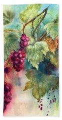 Wine Grapes Beach Sheet