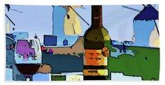 Wine In Mykonos Beach Towel