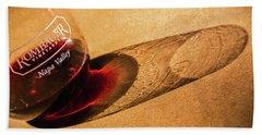 Wine Legs Of Napa Valley Beach Towel