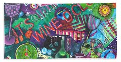 Wine O'clock Beach Towel