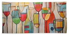 Wine Tasting Beach Sheet
