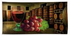 Beach Towel featuring the photograph Wine Tasting by Hanny Heim