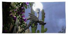 Winged Gargoyle In El Fuerte Beach Towel
