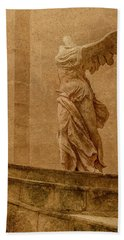 Paris, France - Louvre - Winged Victory Beach Sheet