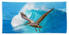 Wings And Waves Beach Towel