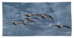 Wings In Formation Beach Sheet