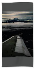 Beach Towel featuring the photograph Wings Over Rainier by Jeffrey Jensen