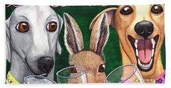 Wining With The Rabbit. Beach Sheet