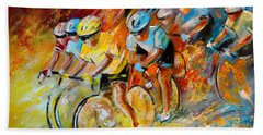 Winning The Tour De France Beach Towel