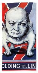 Winston Churchill Holding The Line Beach Towel