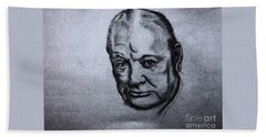 Winston Churchill  Beach Towel