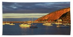 Beach Towel featuring the photograph Winter Afternoon Sun At Friendly Bay by Nareeta Martin