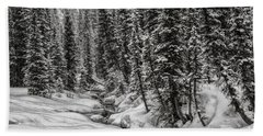 Winter Alpine Creek II Beach Sheet