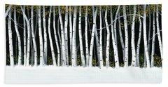 Winter Aspens II Beach Sheet by Michael Swanson