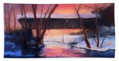 Winter At Bennett's Mill Beach Towel by Gail Kirtz