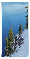 Winter At Crater Lake Beach Towel