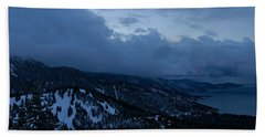 Winter At Diamond Peak Beach Towel by Sean Sarsfield